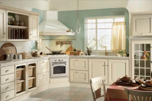 Cucina Mod. Baltimora Versione Frassino Bianco