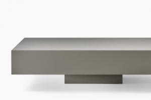 Art.39TA18 Tavolino Laccato Opaco Grigio