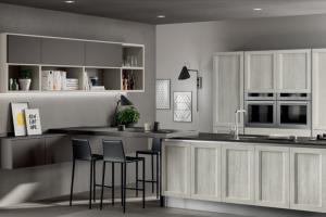 Cucina Scavolini Mod. Evolution Anta Telaio Decorativo Rovere Artic