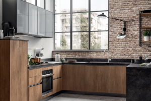 Cucina Mod. Evolution Anta Piana Decorativo Rovere Land