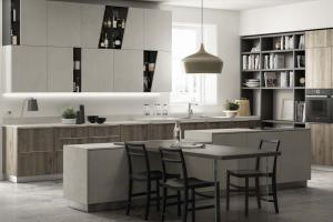 Cucina Scavolini Mod. Mood Finitura Rovere  Season e Decorativo Azimut