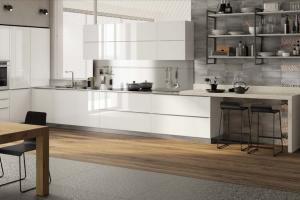 Cucina Scavolini Mod. Mood Finitura Laccato Lucido Bianco Prestige
