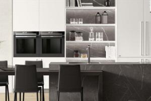 Cucina Scavolini Mod. Mood Laminato Bianco Puro e Pietra Grey