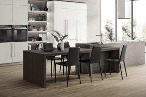 Cucina Scavolini Mod.Mood Laminato Bianco Sacv.021 e Pietra Grey