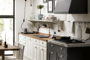 Cucina Scavolini Mod. Favilla Finitura Tortora Laccato Opaco e Ghisa