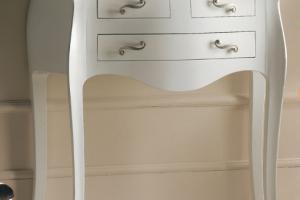 Art. DO0061 Consolle Laccato Bianco Opaco + Foglia Argento