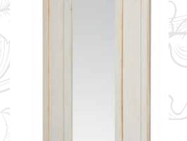 Art. DO0085 Mobile Appendiabiti Finitura Bianco Patinato + Nocciola