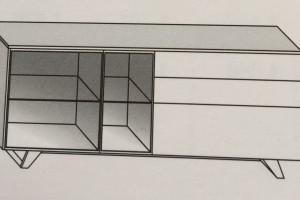 Art. RA0107 Versione AT (Vetro Trasparente) o Verasione AF (Vetro Fumè)