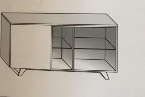 Art. RA0107 Versione GT (Vetro Trasparente) Versione GF (Vetro Fumè)