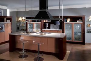 Cucina Scavolini Mod. Baccarat Finitura Marron Glacé Laccato Lucido