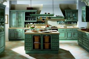 Cucina Scavolini Mod. Belvedere Finitura Rovere Azzurro Antico