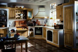 Cucina Scavolini Mod. Belvedere Finitura Rovere Naturale Antico e Muratura Provenza