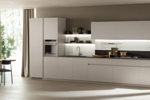Cucina Scavolini Mod. DeLinea Finitura Laccato Opaco Bianco Prestige