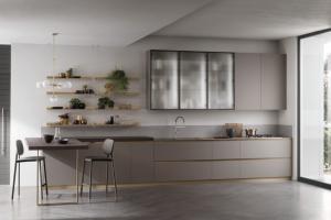 Cucina Scavolini Mod. DeLinea Finitura Fenix Grigio Londra